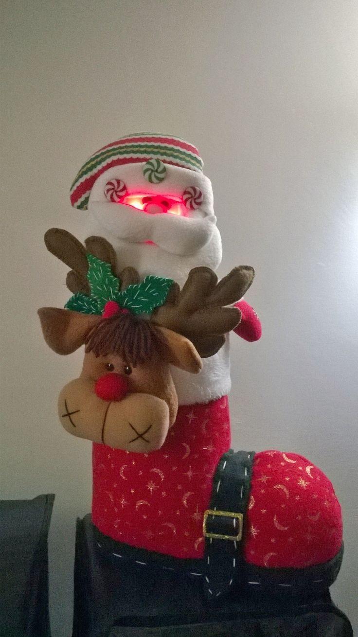 Bota navideña con luces