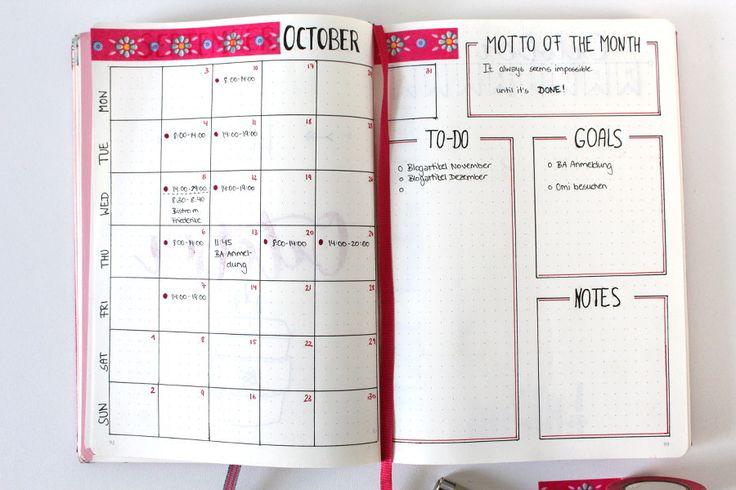 Monthly Setup Bullet Journal