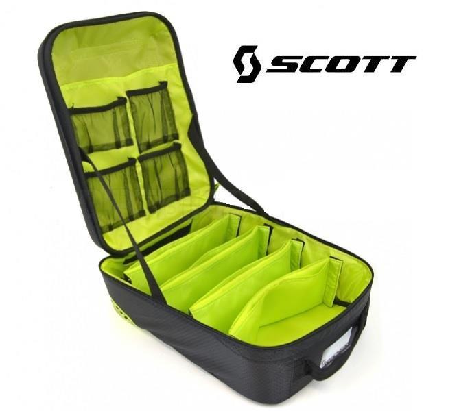 Scott 5PC Goggle Case MX Enduro Motocross Goggles Bag – Black/Green – Whinner Motorcycles