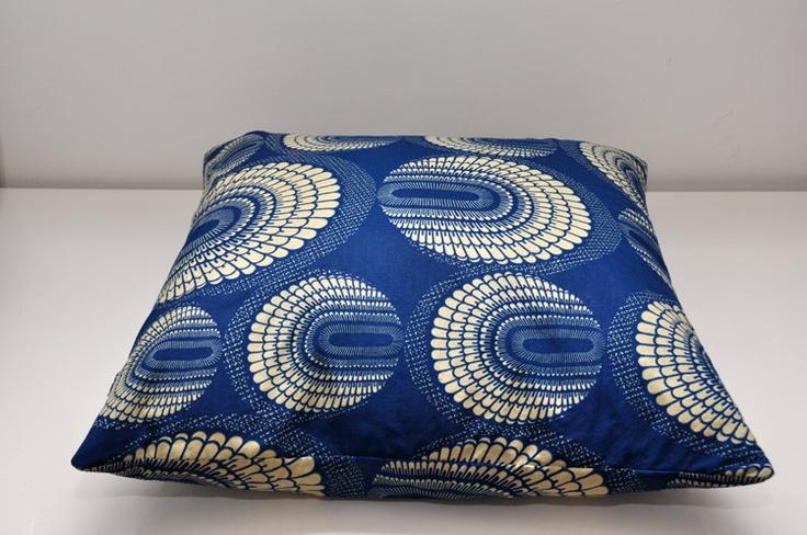 Retro style, African print, pillow case. $25.00, via Etsy.