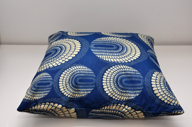 Retro style, African print, pillow case. $25.00, via Etsy.