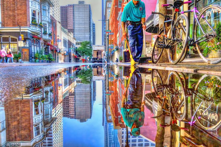 Different…nice artistic tension in the software manipulation; a bit cartoonish, a bit painterly, a bit of the real peaking through. Great color---Favorite Puddle Maintenance by Stacey Lewis on 500px