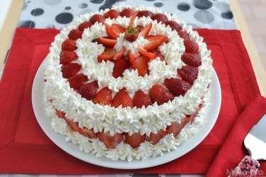 » Torta alle fragole Ricette di Misya - Ricetta Torta alle fragole di Misya