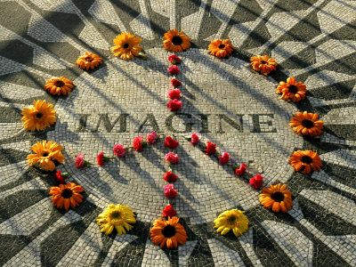 Imagine all the people...  living for today  living life in peace  sharing all the world
