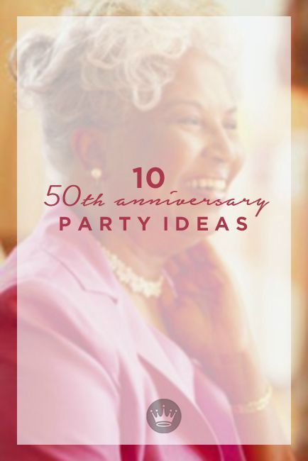 A golden celebration th anniversary party ideas