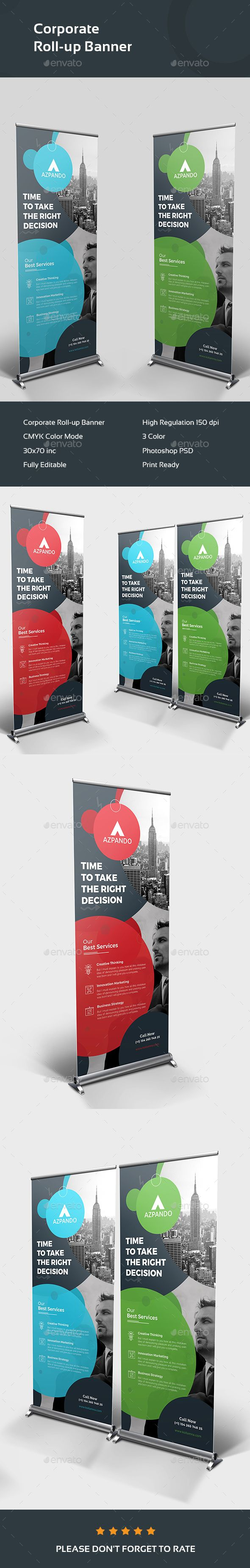 #Corporate Roll-up Banner - #Signage Print Templates