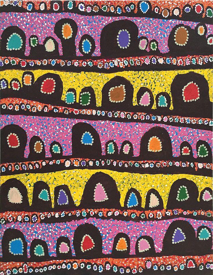 Linda NAPURULLA NGITJANKA Titre de l'œuvre : Alkipi Format : 153 x 122 cm #aboriginalart #artaborigene #ikuntji #artcontemporain #Bruxelles