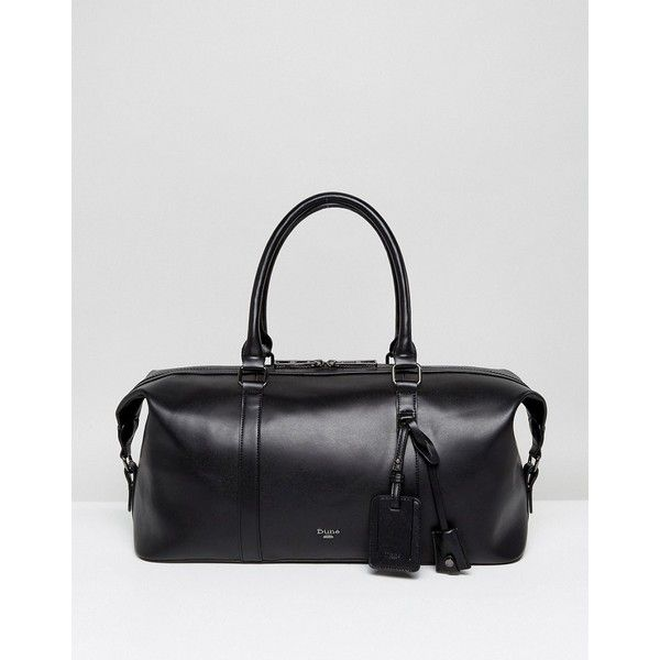 Dune Zack Holdall In Black (940.745 IDR) ❤ liked on Polyvore featuring men's fashion, men's bags, black and mens holdall bags