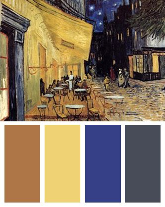 Color Palette Inspired By Vincent Van Gogh S The Cafe
