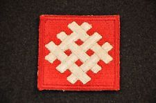 WWII U.S. 6TH ARMY GROUP PATCH SSI SHOULDER INSIGNIA COTTON / CUT EDGE / NO GLOW