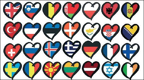 Eurovision Love Hearts