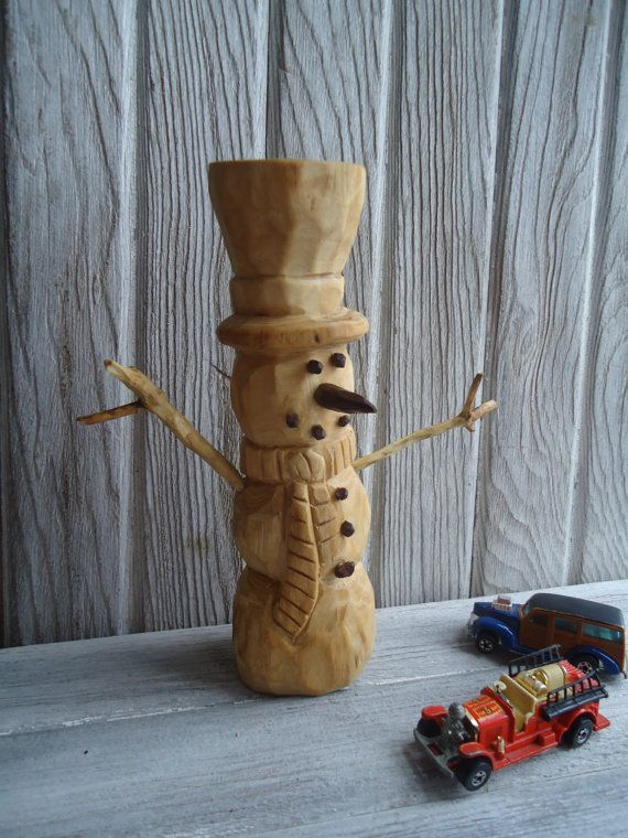 Best woodcarving snowmen images on pinterest carved