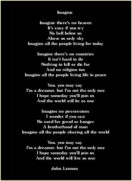 Imagine By John Lennon❤️☀️ One of my all time favourites. I've often listen to this with the repeat button on...