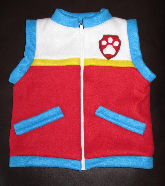 Paw patrol Ryder inspired jacket vest by Hamnascreations on Etsy