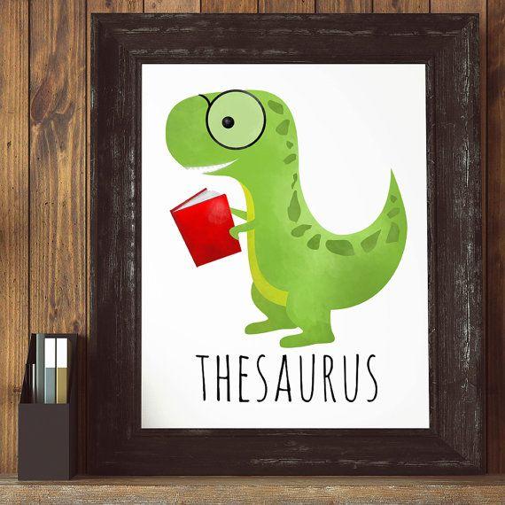 Thesaurus Cute Punny Printable 8x10 Digital Print Funny ...