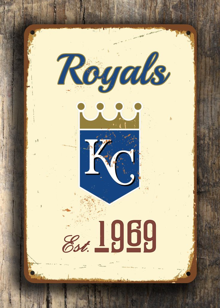 Vintage style KANSAS CITY Royals Sign, Kansas City Royals Est.1969 Composite Aluminum Kansas City Royals Sign WORLDWIDE Shipping by FanZoneSigns on Etsy