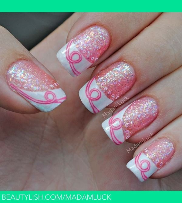 T Cancer Awareness Inspired Nail Art Amanda S Madamluck Photo