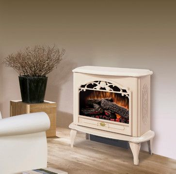Dimplex Celeste Cream Purifire Electric Fireplace Stove with Remote Control traditional fireplaces