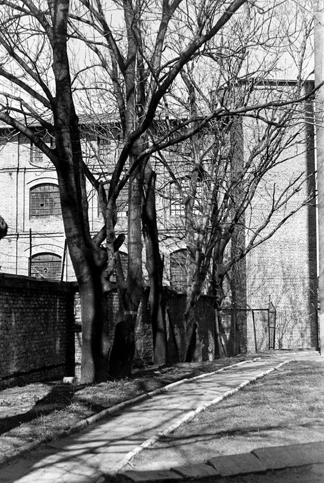 Stara fabryka przy ulicy Włókienniczej 1983 r