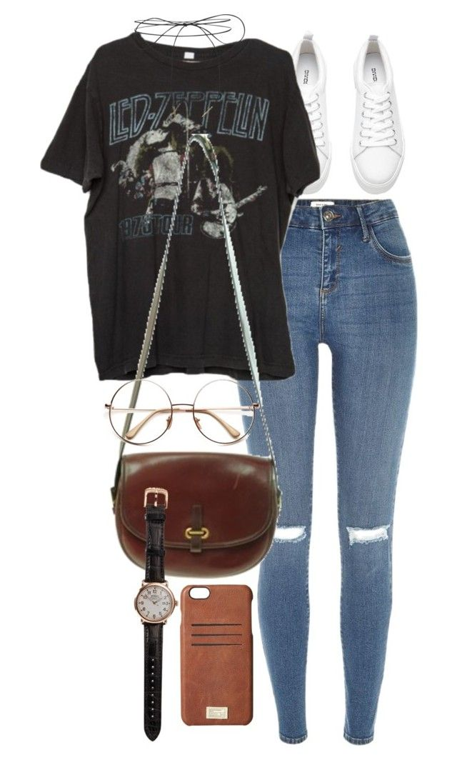 """Untitled #9513"" by nikka-phillips ❤ liked on Polyvore featuring River Island, Brandy Melville, Lilou, Market, HEX and Shinola"