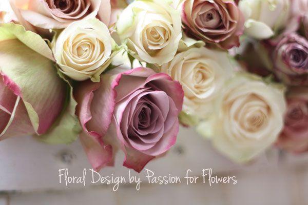 dusky pink roses wedding flowers