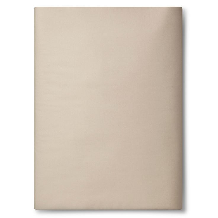 Ultra Soft Fitted Sheet (Cal King) Brown Linen 300 Thread Count - Threshold