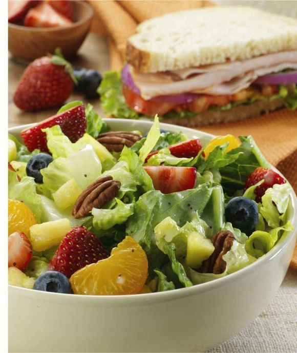 Best Salad EVER!!! Panera's Strawberry Poppyseed Chicken Salad - (for actual recipe go to http://www.food.com/recipe/strawberry-poppyseed-salad-panera-copycat-454320)