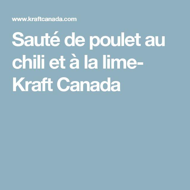 Sauté de poulet au chili et à la lime- Kraft Canada