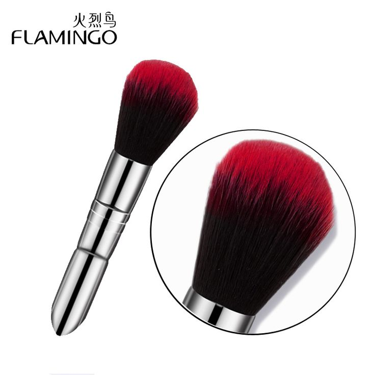 Flamingo Round Makeup Blusher Brushes Cream Concealer Foundation Powder Brush Synthetic Fifber Face Cosmetic Brushes 3010