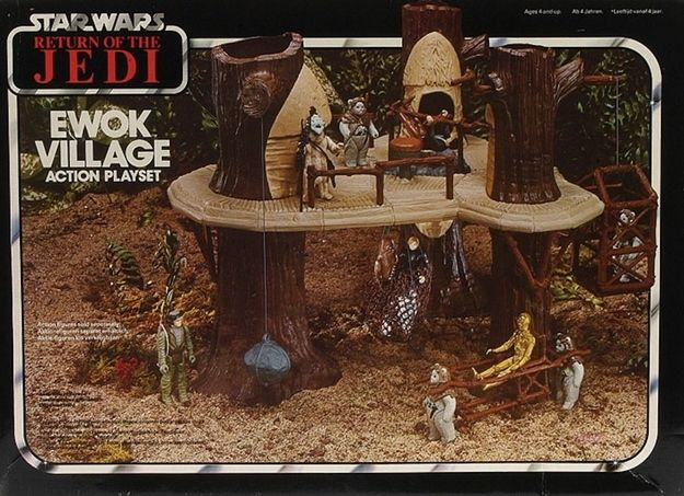 The Return of the Jedi - Ewok Village Action Playset | 12 Coolest Action Figure Playsets Of The '80s
