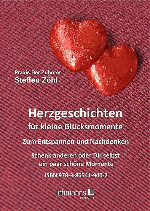 Mein erstes Buch - ich bin glücklich und stolz, dass meine Geschichten als Sammlung in (m)einem Buch münden.  Da darin viel Herzblut steckt und teilweise eigene Erfahrungen einfließen, freut es mich umso mehr. Das Buch Herzgeschichten für kleine Glücksmomente - Zum Nachdenken und Entspannen ISBN 978-3-86541-940-2 ist ab sofort im Buchhandel für nur 11,