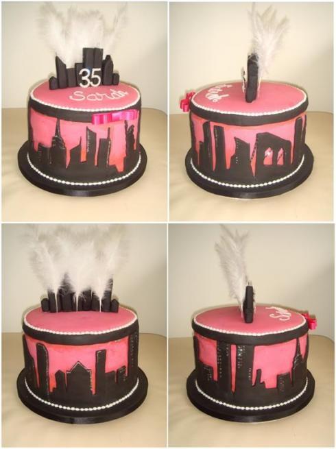 New York theme birthday cake. @Rhea Loganbill I WANT THIS!!!!!!!!!!!!!