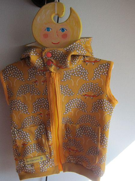 Weiteres - Ärmellose Hoodie Baby in Senf Gelb Öko Gr 74 - ein Designerstück von EErhardt bei DaWanda