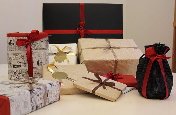 Ideas for gift wrapping, ideoita lahjojen paketointiin. www.pisadesign.fi