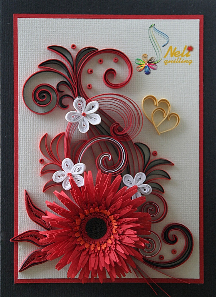 Paper Quilling Art Handmade Card By T