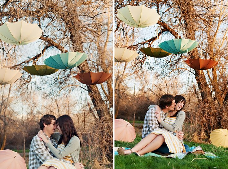 Umbrella shoot ...cute!!