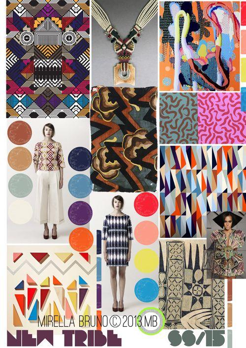 Wearable Design Inspiration Board. Mirella Bruno Print Design Project Direction Boards SS/2015.