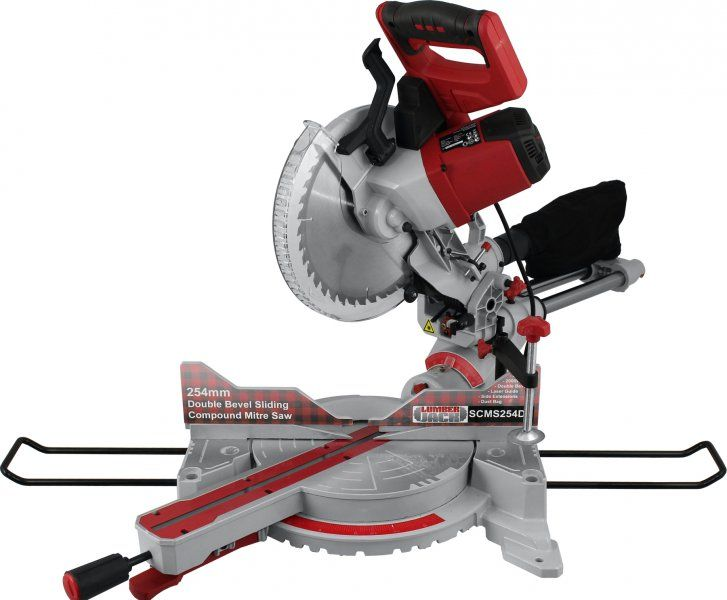 "Lumberjack SCMS254DB - 10"" Compound Sliding Double Bevel Mitre Saw 230V Woodworking - Mitre Saws -  £179.95  from our online power tool shop."