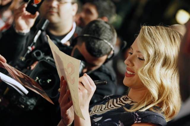 Scarlett Johansson(Vedova Nera) at The Avengers Rome Premiere
