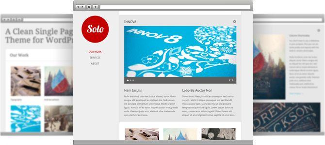 Solo - a wordpress theme