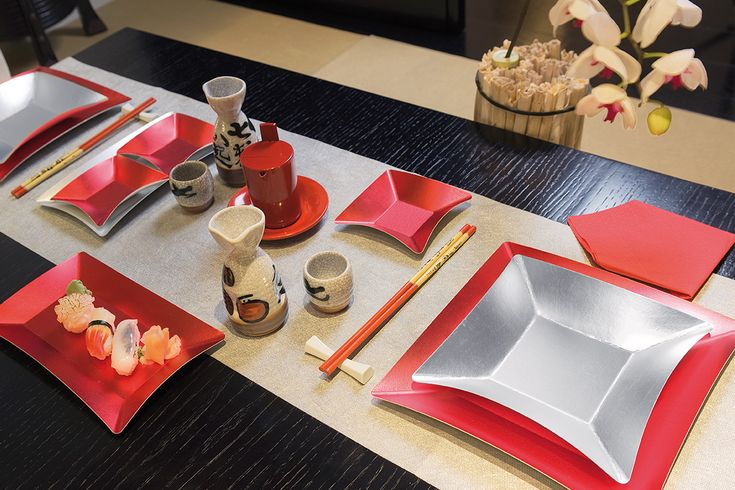 Oggi apparecchio così: festa sushi o giapponese