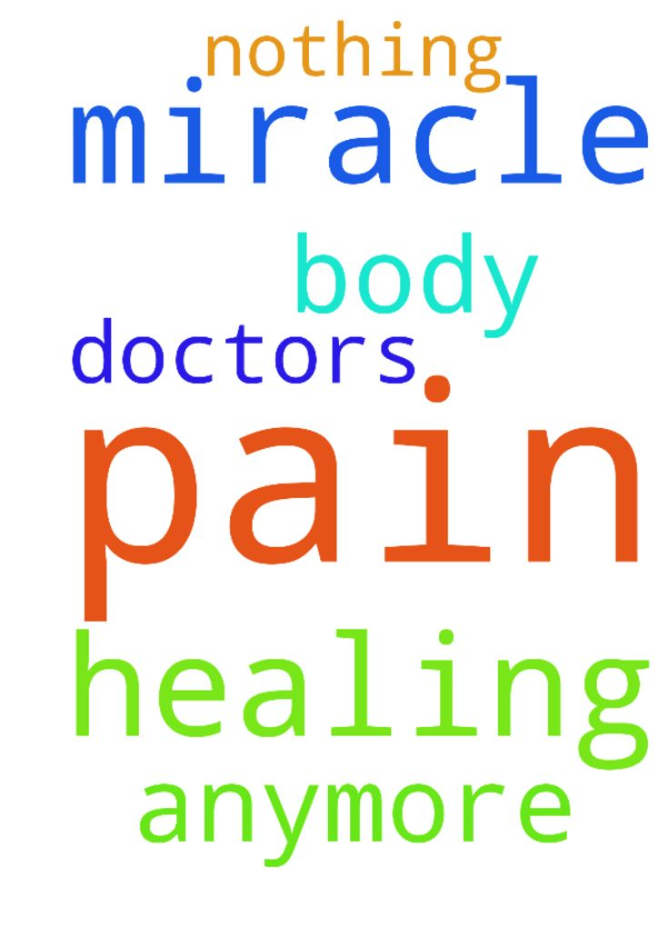 Prayers for my pain all over & miracle of healing in - Prayers for my pain all over amp; miracle of healing in my body. There is nothing doctors can do for me anymore.  Posted at: https://prayerrequest.com/t/lay #pray #prayer #request #prayerrequest