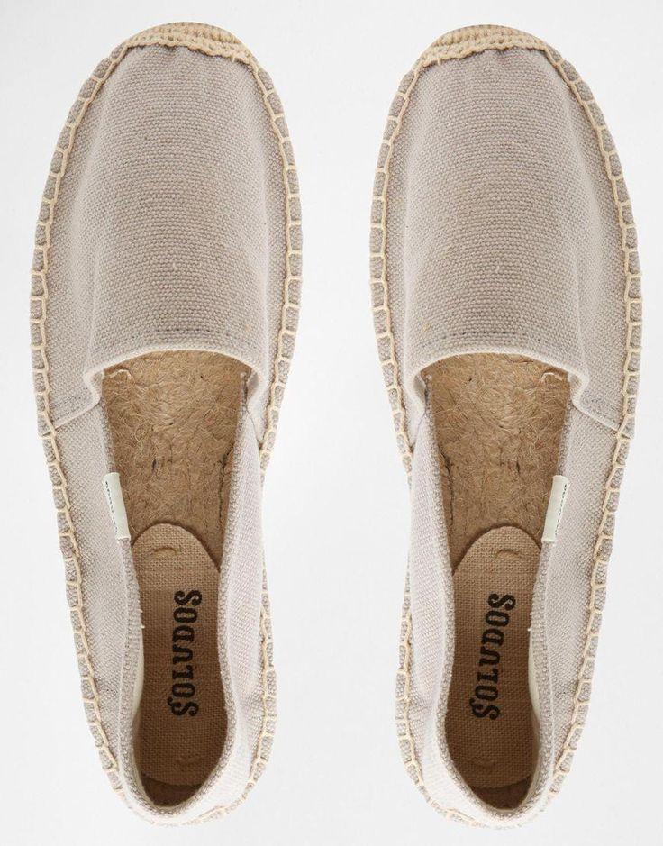 Soludos | Soludos Original Canvas Dali Grey Espadrille Flat Sandals at ASOS