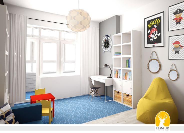 HOME IT!: Квартира для большой семьи. Морская детская. Дизайн и визуализация.