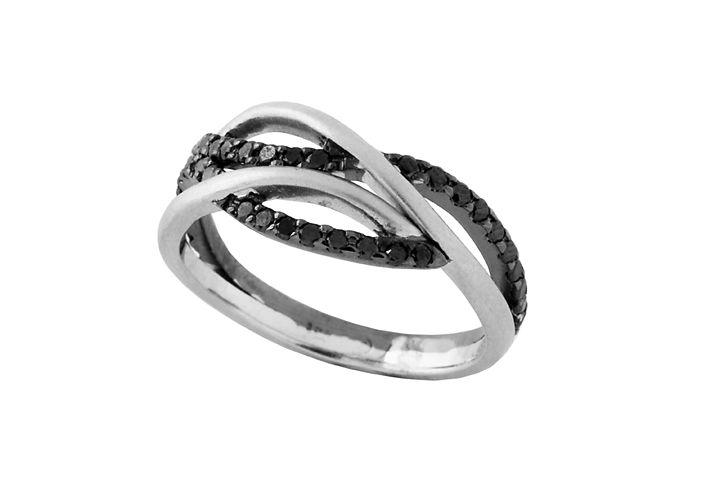 "Diamond ""Wave"" Ring"