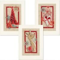 Vervaco® Christmas Symbols Greeting Cards Counted Cross-Stitch Kit