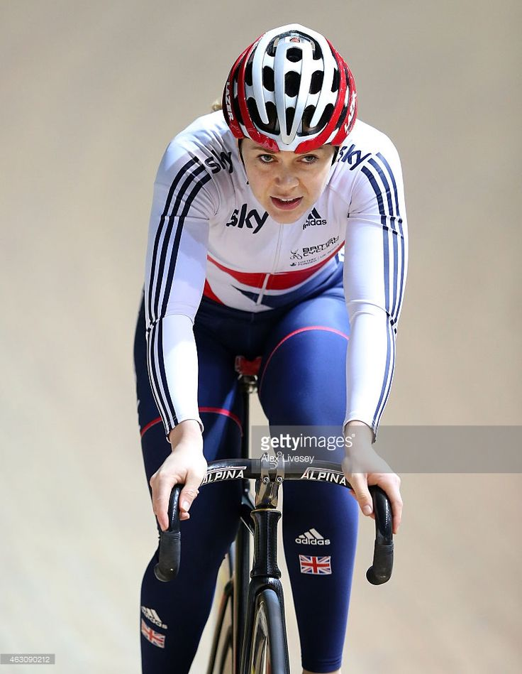 <a gi-track='captionPersonalityLinkClicked' href=/galleries/search?phrase=Jess+Varnish&family=editorial&specificpeople=4754766 ng-click='$event.stopPropagation()'>Jess Varnish</a> of Team GB trains during a Team GB Cycling Media Day at the National Cycling Centre on February 9, 2015 in Manchester, England.
