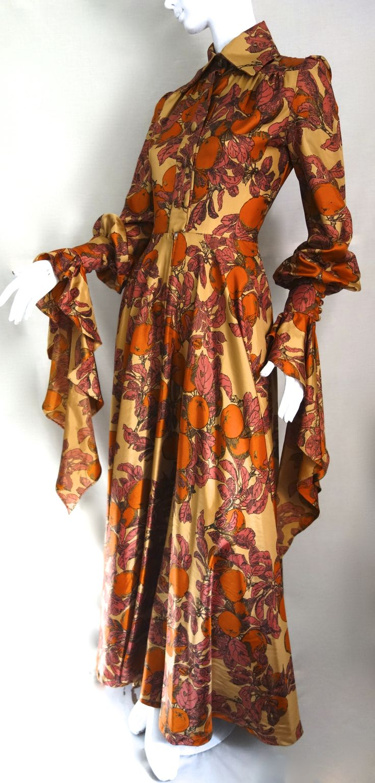 autumn special incredible guinevere draped sleeves...from Jean Varon ( john bates)
