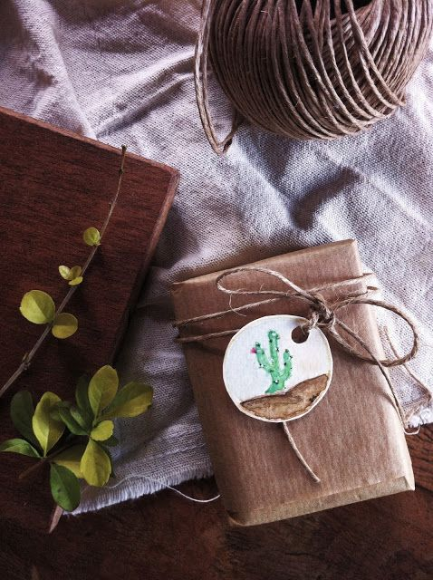 #packaging #art #watercolor #plants #craft #cactus #tag