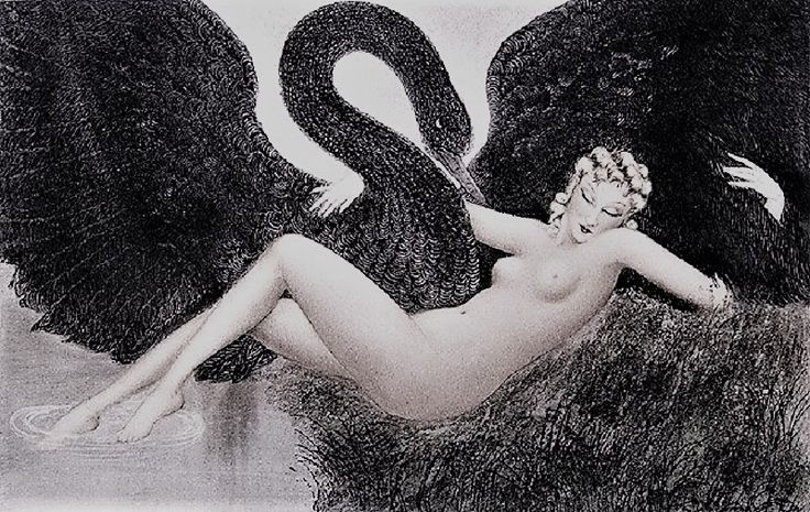 Louis Icart (French, 1888 -1950) – Leda and The Swan, 1934 (Etching and aquatint, varnished) – Why do we not acknowledge the phenomenon of black swans until after they occur? The hubris of predictions and our perpetual surprise when the not-predicted happens. We concentrate on things we already know but we fail to predict the impossible. The history of a thousand days that tell you nothing about what is to happen next… (Németh György)